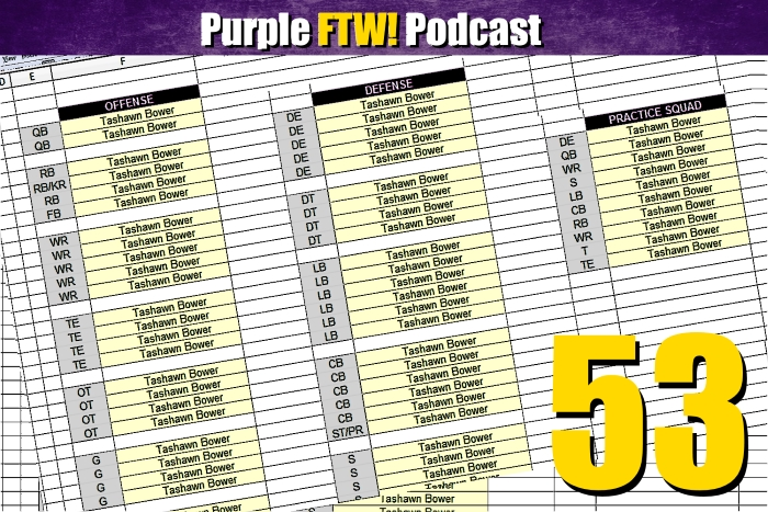 Purple FTW! Podcast: Vikings 53-Man Roster Projections + @JReidDraftScout (ep. 404)