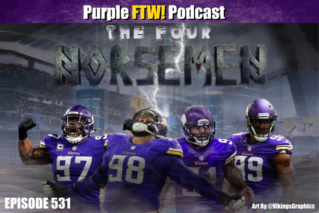 Purple FTW! Podcast: Vikings Friday Free-For-All feat. Darren Wolfson + @JReidDraftScout (ep. 531)
