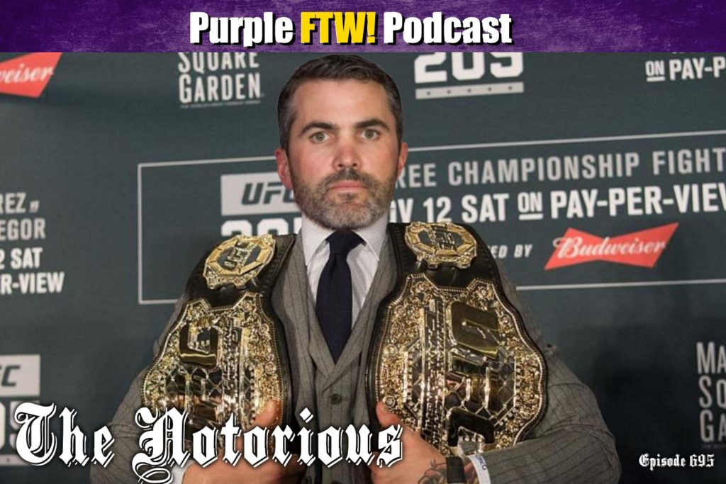Purple FTW! Podcast: Vikings Coaching Moves. Free Agency. Draft Talkers. feat. Jordan Reid + Darren Wolfson (ep. 695)
